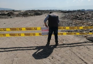 REPONE PROPAEM SELLOS DE CLAUSURA EN TIRADERO EN ZONA LÍMITE DE TLÁHUAC-XICO, MUNICIPIO DE VALLE CHALCO. 1