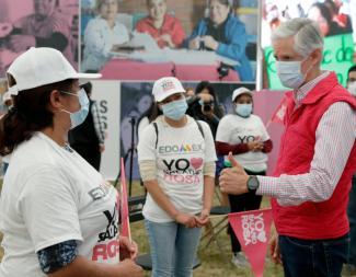 SEÑALA ALFREDO DEL MAZO QUE A TRAVÉS DEL SALARIO ROSA SE RECONOCE EL TRABAJO DE LAS JEFAS DE FAMILIA MEXIQUENSES. 1