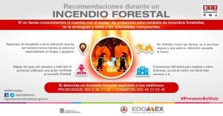 PROTECCIÓN CIVIL DIFUNDE RECOMENDACIONES ANTE INCENDIOS FORESTALES. #GEM REHABILITA UNIDAD DEPORTIVA BICENTENARIO SAN MATEO A... 1